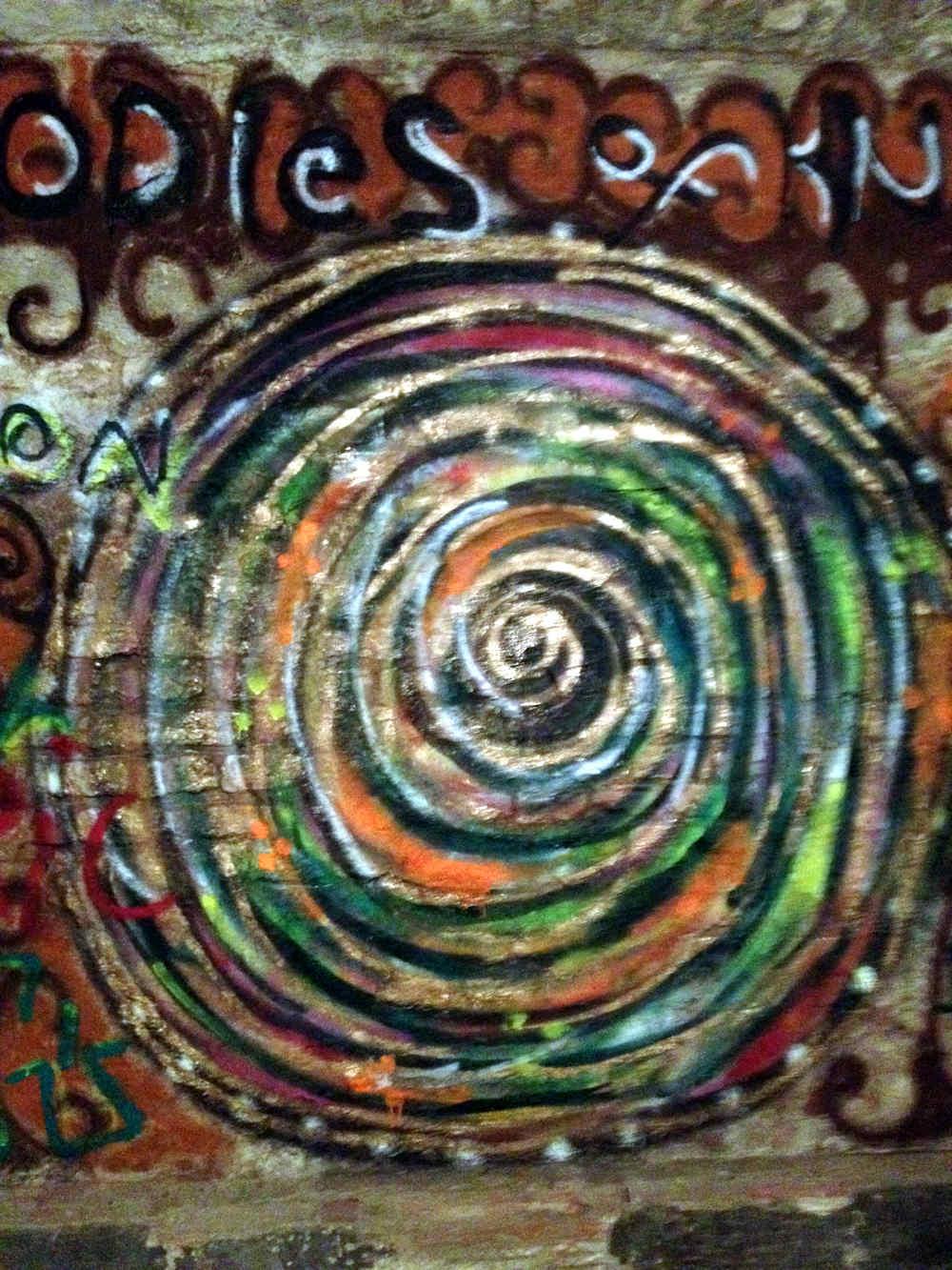 Wandmalerein im Keller im Planet 10