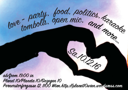 Flyer Love-Party am 12.10.2016