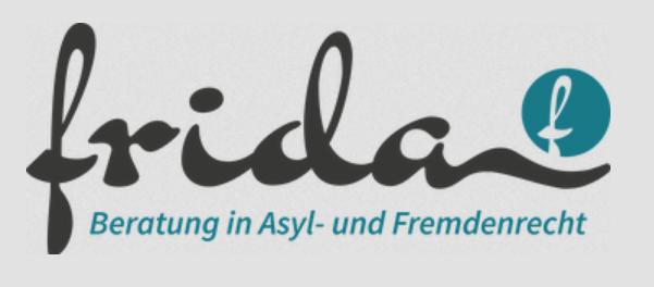 Logo von FRIDA Kostenlose Beratung in Asyl und Fremdenrecht
